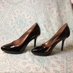 Antonio Melani Black Patent Leather Heels